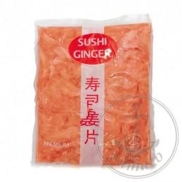 Pickled sushi ginger (pink)
